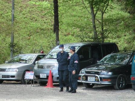 Osaka Police Dept arrive on 5.10 for security duty.jpg